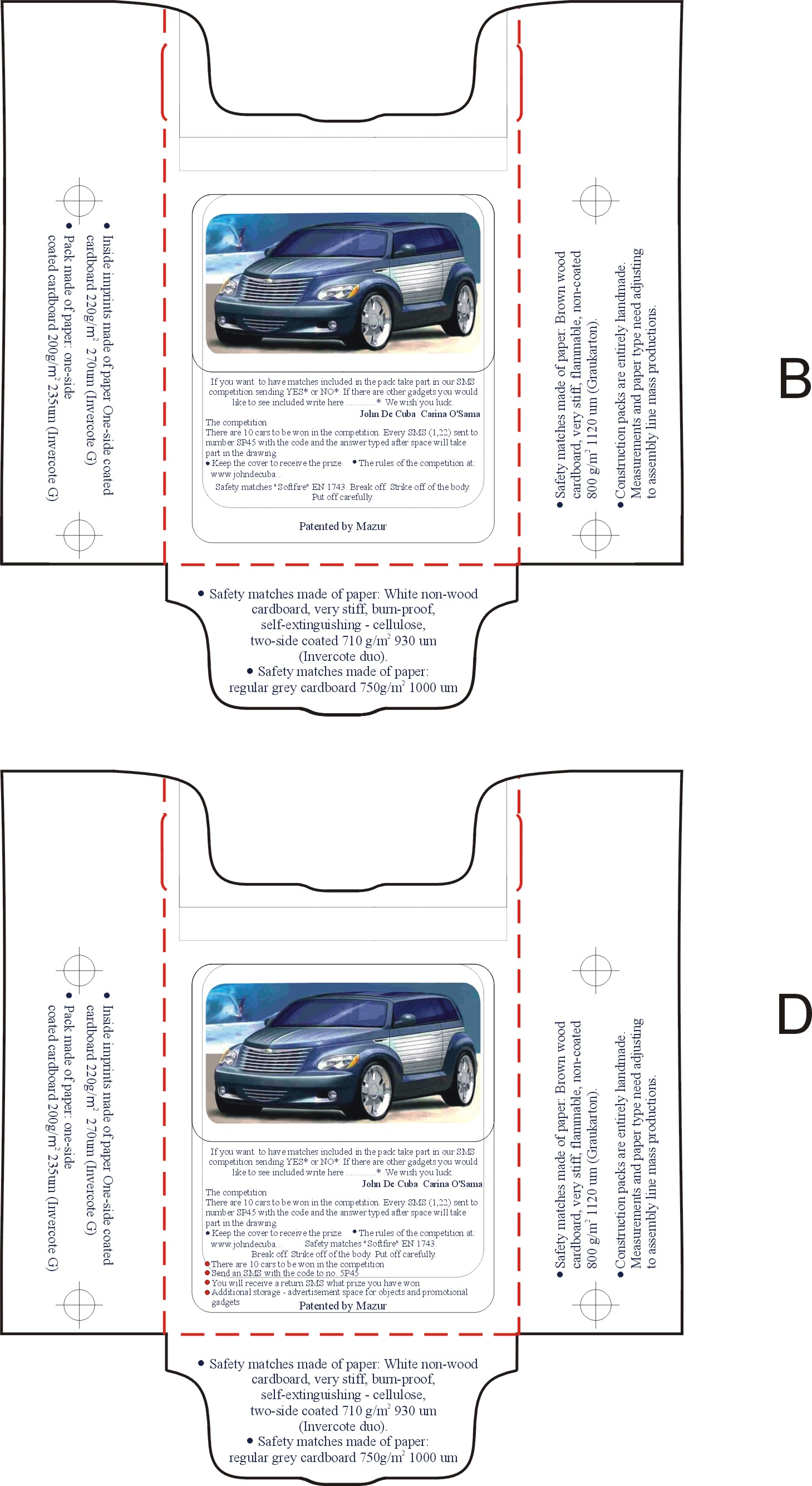 II.1c. Schnittmuster der Innenwand – technische Beschreibung ...