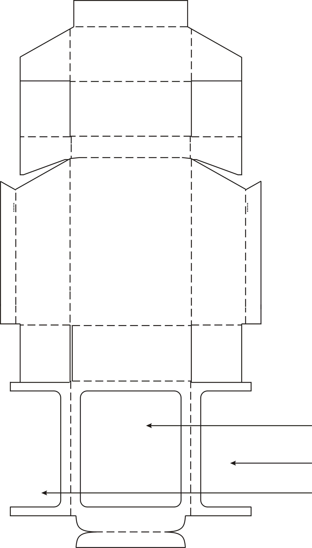 II.3. Schachtel mit Klappe und großem Sichtfenster für Streichhölzer ...